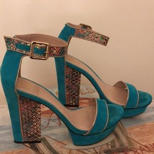 Suede Turquoise-Compare with Tamara Mellon at $595